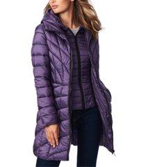 bernardo hooded packable puffer coat