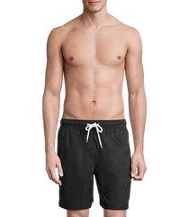 brooks brothers men's montauk solid swim shorts - black - size xxl