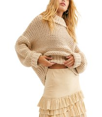 women's free people my only sunshine sweater, size x-large - beige