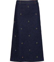 let lång kjol blå munthe