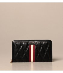 bally wallet dalen bally zip around wallet in quilted leather with trainspotting