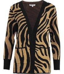 vest zebra bruin