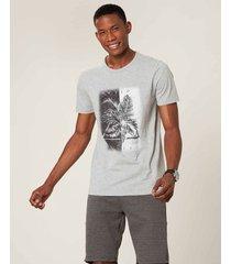 camiseta slim wild life malwee cinza claro - pp