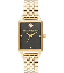 reloj análogo dorado olivia burton
