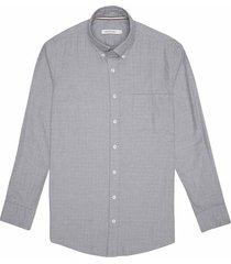 camisa casual manga larga textura regular fit para hombre 93466