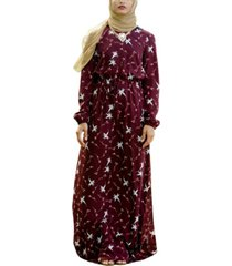 urban modesty women's floral drawstring maxi dress