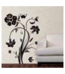 adesivo de parede floral modelo 01 - eg 140x100cm