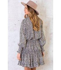panter jurk exclusive offwhite