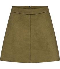 onllinea faux suede bonded skirt cc otw kort kjol grön only