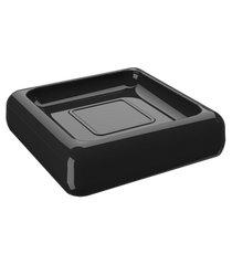 saboneteira cube 10 x 10 x 2,5 cm preto coza preto