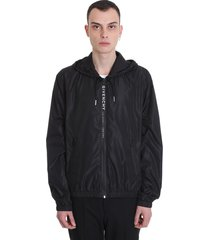 givenchy casual jacket in black polyamide
