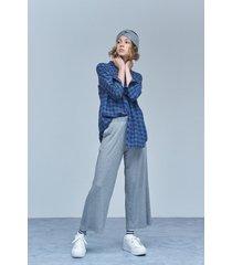 pantalón gris melange medio 47 street laos