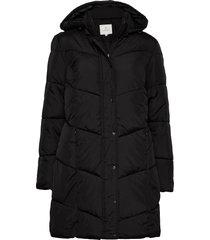 coat outerwear heavy gevoerde lange jas zwart brandtex