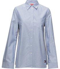 bandana shirt ls overhemd met lange mouwen blauw hilfiger collection