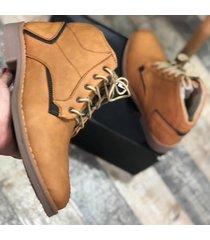 zapato botín casual - mostaza