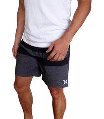 pantaloneta hurley blackball beater para hombre - gris/negro