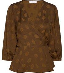 veneta blouse 11162 blouse lange mouwen bruin samsøe samsøe