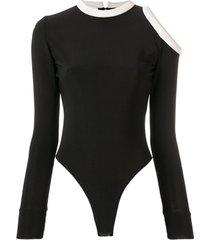 atu body couture vestido com recorte nos ombros - preto