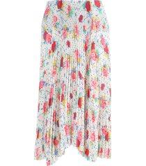 pleated floral kick skirt