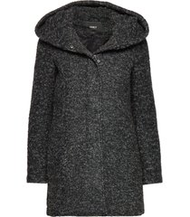 onlsedona boucle wool coat otw noos yllerock rock grå only