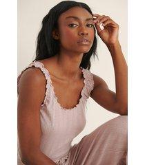 na-kd lingerie ekologiskt linne med en babylock-design - pink