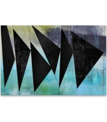 angles coated embellished canvas