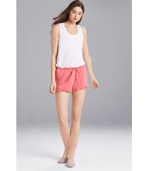 josie jerseys shorts pajamas, women's, pink, size xs natori
