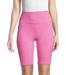 nanette lepore women's ladder-trim bike shorts - super pink - size xl