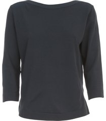 nuur viscose sweater 3/4s boat neck