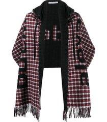 alexanderwang.t hooded logo scarf - black
