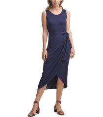 calvin klein sarong-style sheath dress