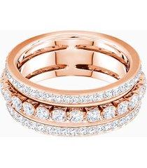 anello further, bianco, placcato oro rosa