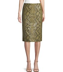casey stretch snake-print pencil skirt