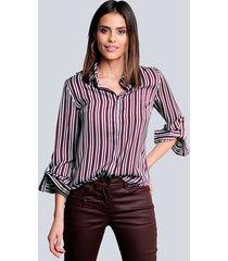 blouse alba moda berry::marine::lichtblauw