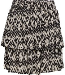 skirt print plus short layers kort kjol multi/mönstrad zizzi