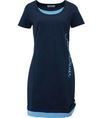 abito in maglina stampato a manica corta (blu) - john baner jeanswear