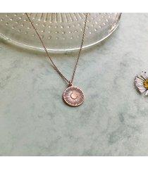 daisy - stokrotka- naszyjnik medalion