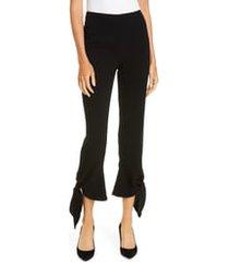 women's cinq a sept nuluu tie ankle pants, size 00 - black