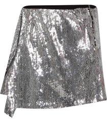 alberta ferretti silver girl skirt with ruffle