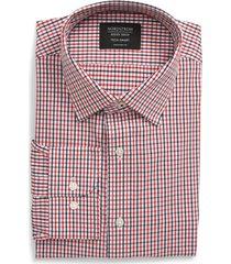 men's big & tall nordstrom men's shop tech-smart traditional fit check dress shirt, size 18 - 34/35 - red
