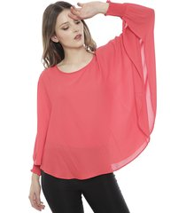 blusa bunnys wool contemporary fucsia - calce oversize