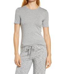 women's nordstrom moonlight comfort layer t-shirt, size medium - grey
