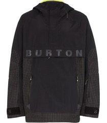 burton jaqueta frostner com capuz - preto