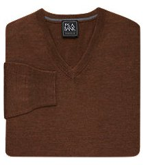 traveler collection merino wool v-neck men's sweater - big & tall