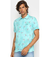 camisa colcci relax manga curta masculina