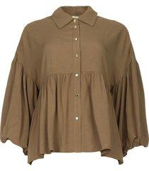 blouse met wijde mouwen napura  groen