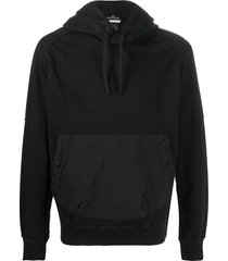 stone island shadow project crinkled effect front pocket hoodie -