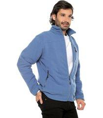 chaqueta azul claro preppy unicolor fleece