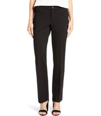 women's anne klein compression flare leg ponte pants, size 2 - black