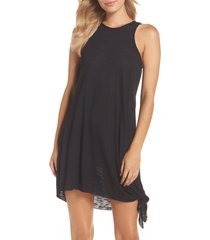women's becca breezy basics cover-up dress, size x-large/xx-large - black (nordstrom exclusive)